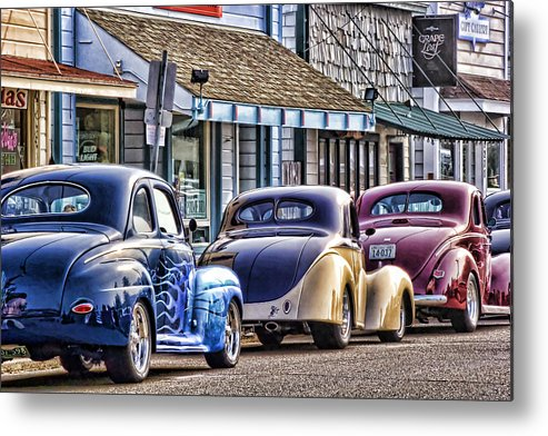 Florence Oregon Metal Print featuring the photograph Classic Car Show by Carol Leigh