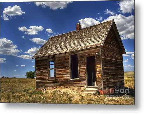 Landscape Metal Print featuring the photograph Colorado Homestead by Pete Hellmann