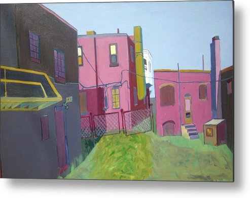 Alleyway Metal Print featuring the painting Courtyard View by Debra Bretton Robinson