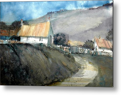 Devon Metal Print featuring the painting Devonshire Farm by Charles Rowland
