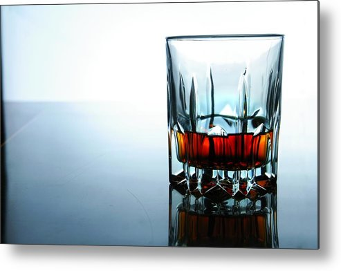 Glass Metal Print featuring the photograph Drink In A Glass by Jun Pinzon