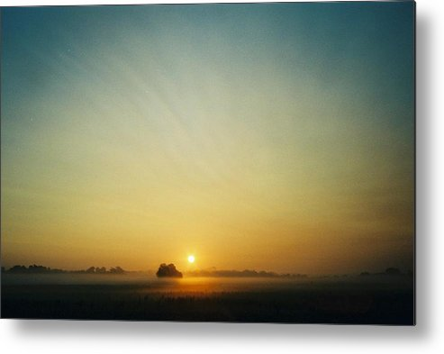 Sunrise Metal Print featuring the photograph Early Sky Indiana by Gene Linder