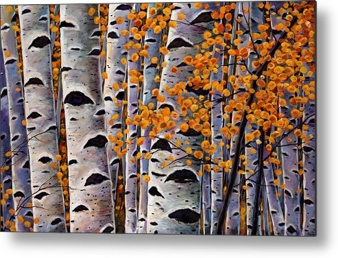 Aspen Metal Print featuring the painting Effulgent October by Johnathan Harris