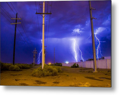 Lightning Metal Print featuring the photograph Electricity Alley by Kyle Field