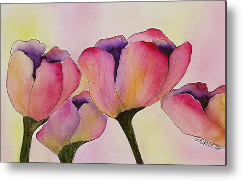Tulips Metal Print featuring the print Elegant Tulips by Mary Gaines
