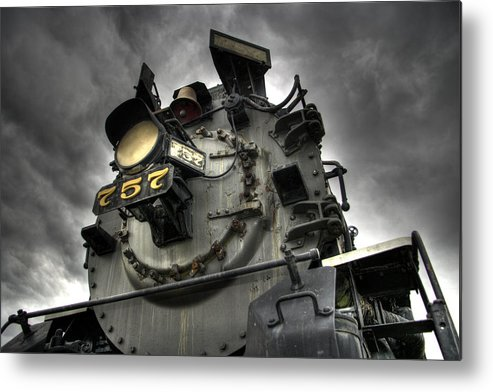 Hdr Metal Print featuring the photograph Engine 757 by Scott Wyatt