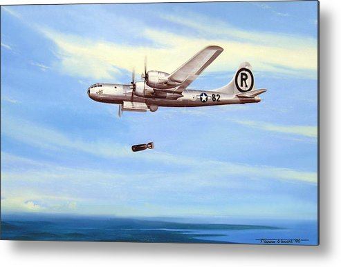 Military Metal Print featuring the painting Enola Gay by Marc Stewart
