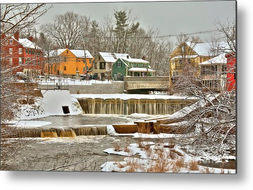 Exeter New Hampshire Metal Print featuring the photograph Falls on Exeter River by Diana Nault
