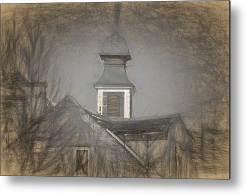 Ancient Metal Print featuring the photograph Fire Tower in Old City Sibiu Romania by Adrian Bud
