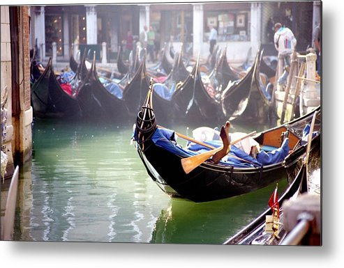 Venice Metal Print featuring the photograph Gondola In Venice In The Morning by Michael Henderson