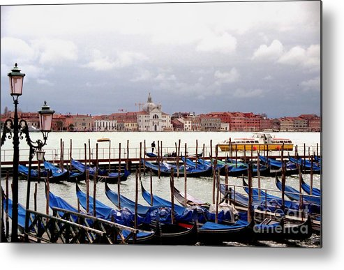 Venice Metal Print featuring the photograph Gondolas In Venice by Michael Henderson