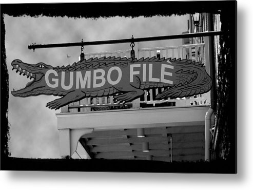 New Orleans Metal Print featuring the photograph Gumbo File by Linda Kish