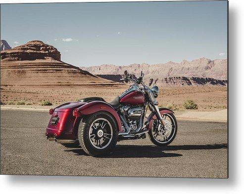 Harley-davidson Freewheeler Metal Print featuring the digital art Harley-Davidson Freewheeler by Super Lovely