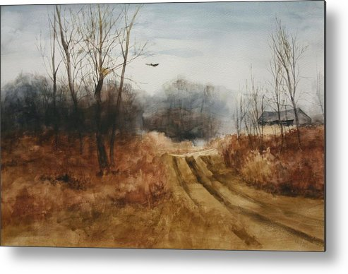 Landscapes Metal Print featuring the painting Hawks Nest by Don Cull