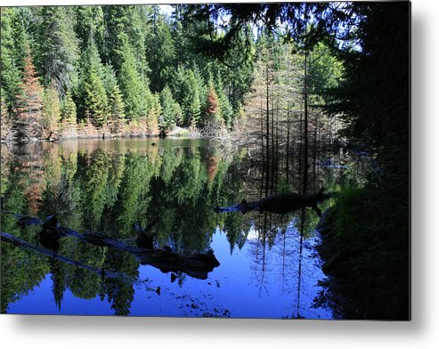 Landscape Metal Print featuring the photograph Heaven and Heaven by Alan Rutherford