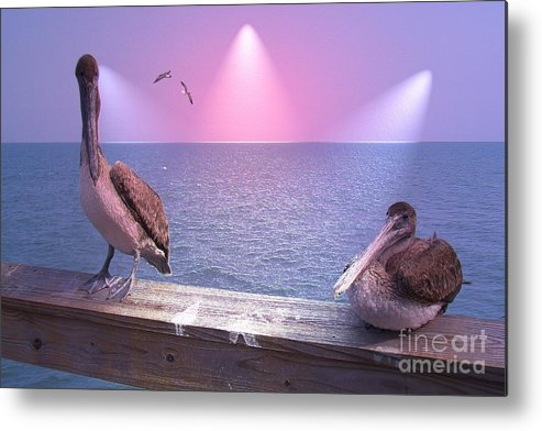 Birds Metal Print featuring the photograph Hey Baby by Rana Adamchick