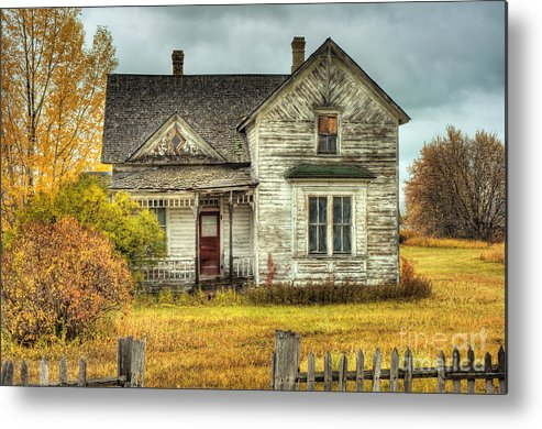 Seasons Metal Print featuring the photograph House on Elm Street by Dennis Hammer