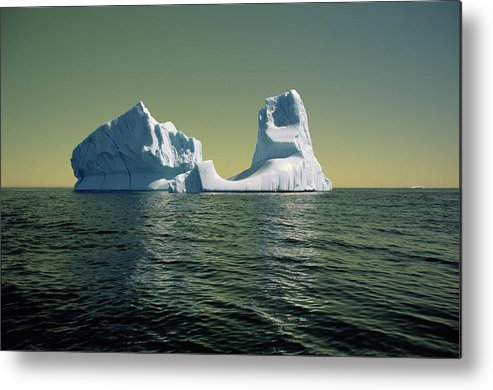 00342146 Metal Print featuring the photograph Iceberg in the Labrador Sea by Yva Momatiuk John Eastcott