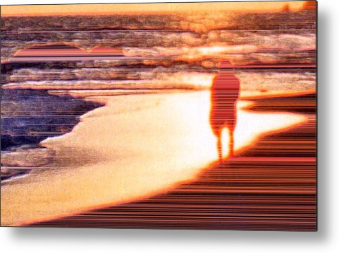Landscape Metal Print featuring the photograph Into the Sunset 6 by Lyle Crump