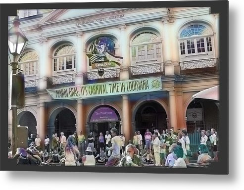New Orleans Metal Print featuring the photograph It's Carnival Time by Linda Kish
