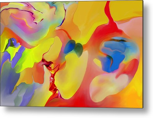 Abstact Metal Print featuring the digital art Joy And Imagination by Peter Shor