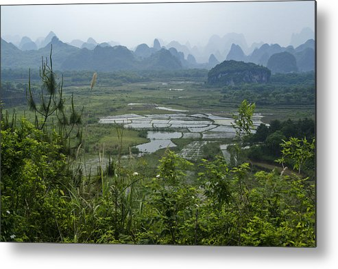 Asia Metal Print featuring the photograph Karst Landscape of Guangxi by Michele Burgess
