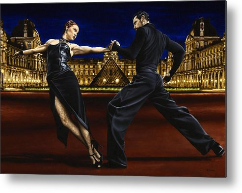 Tango Metal Print featuring the painting Last Tango in Paris by Richard Young