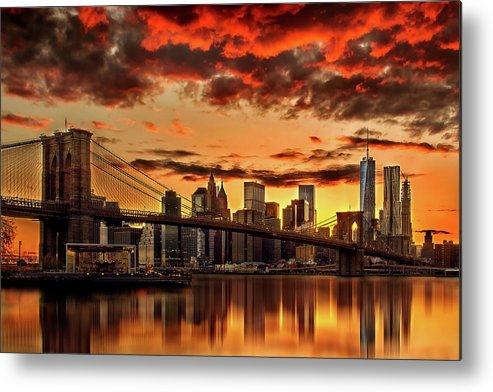 New York City Metal Print featuring the photograph Manhattan BBQ by Az Jackson