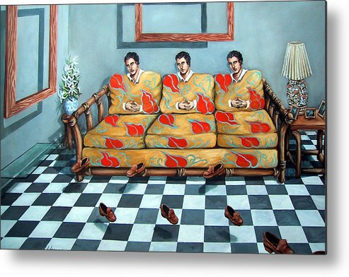 S Metal Print featuring the painting Meditation by Valerie Vescovi