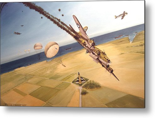Aviation Metal Print featuring the painting Mehitabel by Marc Stewart