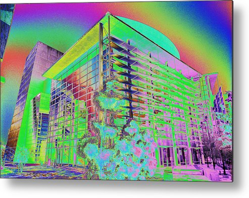 Psychedelic Metal Print featuring the photograph Mesa Art Center by Richard Henne