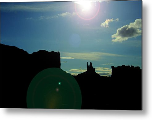 Monument Valley Metal Print featuring the photograph Monument Valley silhouette by Roy Nierdieck