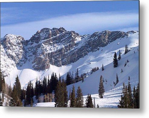 Alta Metal Print featuring the photograph Mountain High - Salt Lake UT by Alexandra Till