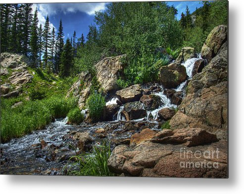 Landscape Metal Print featuring the photograph Mountain Stream 3 by Pete Hellmann