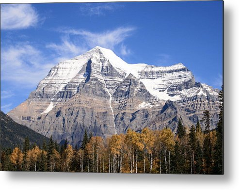 Rocky Mountain Metal Print featuring the photograph Mt. Robson- Canada's Tallest Peak by Tiffany Vest