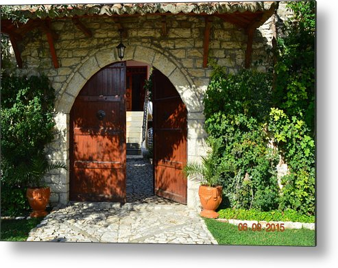 Metal Print featuring the photograph Old House Door by Nuri Osmani