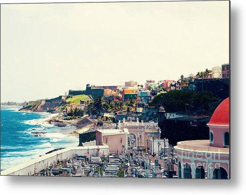 San Juan Metal Print featuring the photograph Old San Juan Puerto Rico by Kim Fearheiley