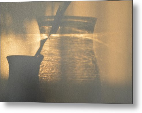 Abstract Metal Print featuring the photograph On The Wall by Lyle Crump