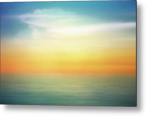 Pastel Metal Print featuring the digital art Pastel Sunrise by Scott Norris