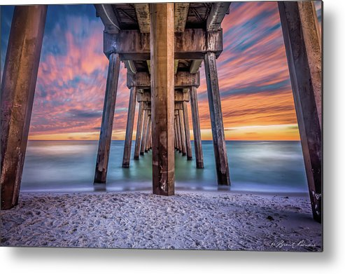 Pensacola Beach Brent Shavnore Photography Sunset Metal Print featuring the photograph Pensacola Beach Fireset by Brent Shavnore