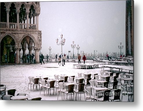 Venice Metal Print featuring the photograph Piazzetta San Marco In Venice In The Snow by Michael Henderson