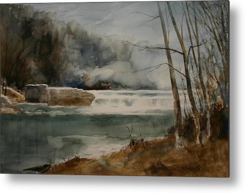 Landscape Metal Print featuring the painting Picketts Dam by Don Cull