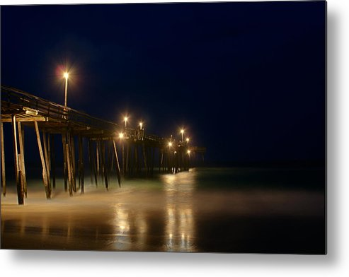 North Carolina Metal Print featuring the photograph Pier by Andreas Freund