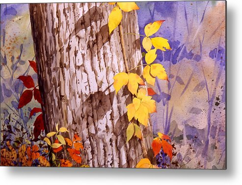 Poison Ivy Metal Print featuring the painting Poisonous Beauty by Faye Ziegler