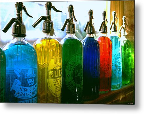 Food And Beverage Metal Print featuring the photograph Pour Me a Rainbow by Holly Kempe