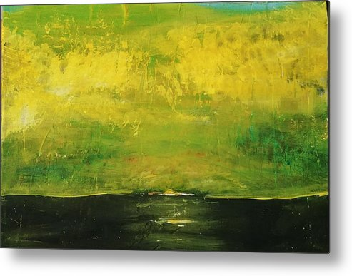 Country Metal Print featuring the painting Prarie at Sunrise by J Bauer