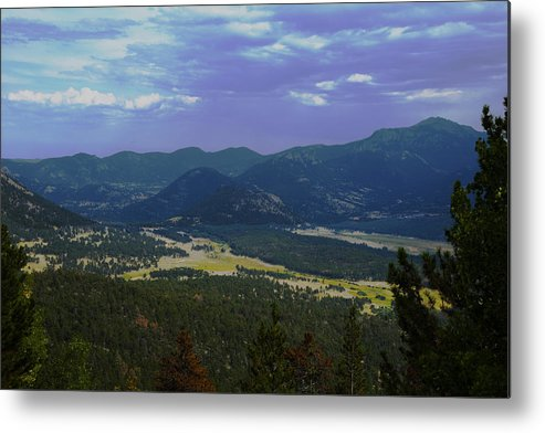 Rocky Mountains Metal Print featuring the photograph Purple Mountain's Majesty by Richard Henne