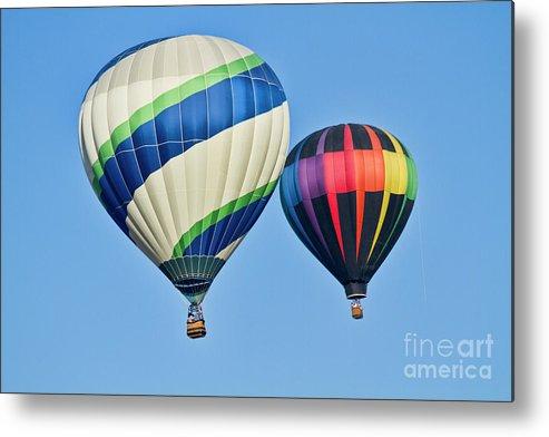 Hot Air Ballons Metal Print featuring the photograph Rising High by Arthur Bohlmann