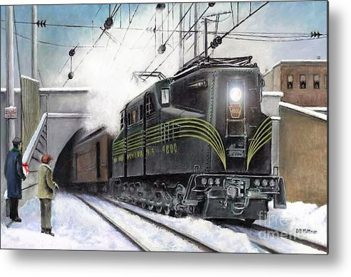 Pennsylvania Railroad Metal Print featuring the painting Rivets by David Mittner