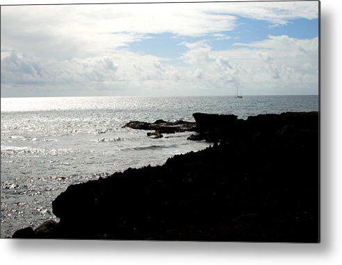Sailboat Metal Print featuring the photograph Sailboat at Point by Jean Macaluso